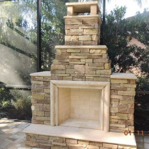 Outdoor Fireplace construction