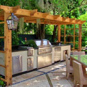 Pergola with kitchen