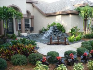 Water feature with great landscaping